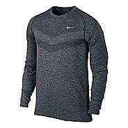 Mens Nike Dri-Fit Knit Long Sleeve Half Zip Technical Tops