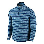 Mens Nike Element Stripe Long Sleeve 1/2 Zip Technical Tops