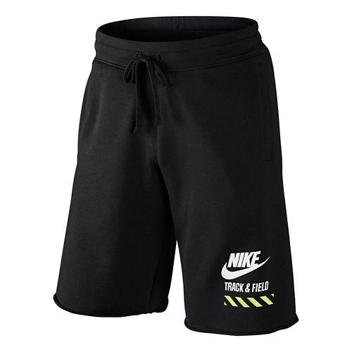 Mens Nike AW77 Alumni RU NTF Unlined Shorts - Black XL