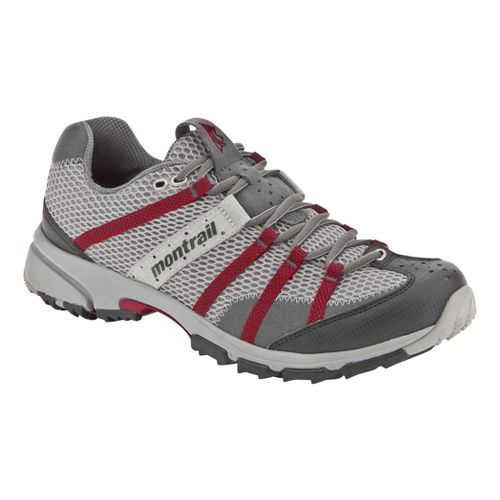 Mens Montrail Mountain Masochist II Trail Running Shoe - Grey/Red 9