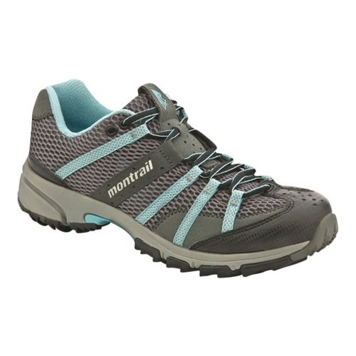 Womens Montrail Mountain Masochist II Trail Running Shoe - Grey/Blue 6.5
