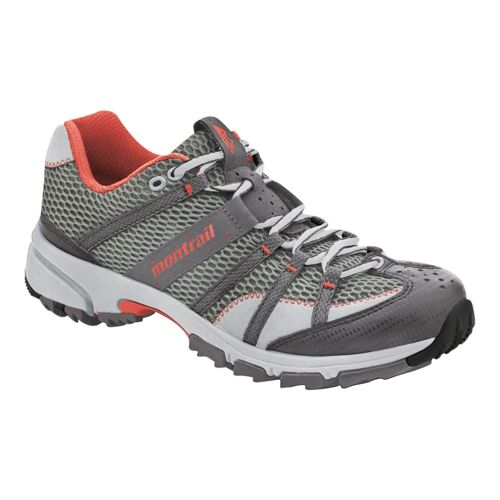 Womens Montrail Mountain Masochist II Trail Running Shoe - Grey/Orange 6.5