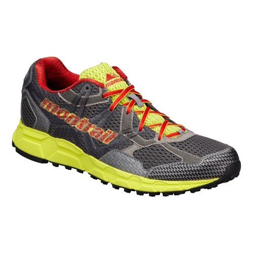 Mens Montrail Bajada Trail Running Shoe - Charcoal/Lime 12