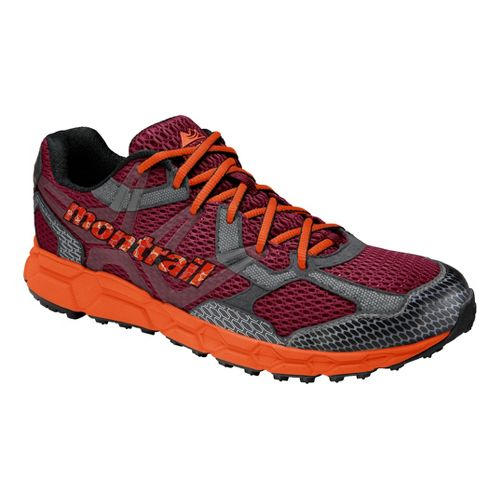 Mens Montrail Bajada Trail Running Shoe - Red/Orange 11.5