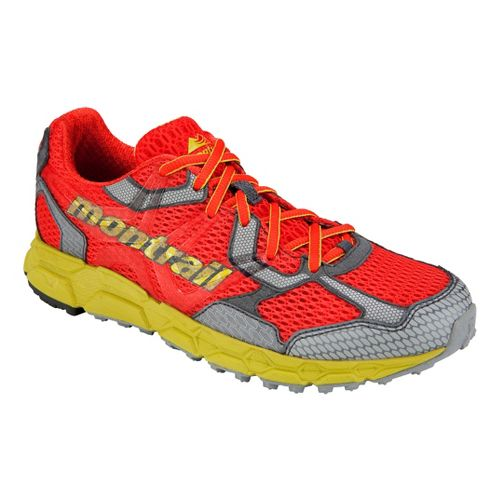 Womens Montrail Bajada Trail Running Shoe - Red/Yellow 7.5