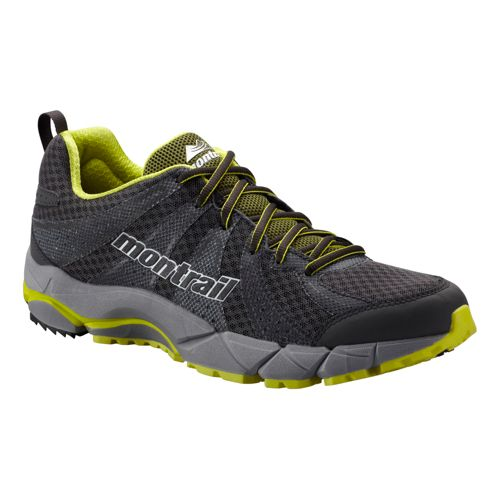 Mens Montrail FluidFeel II Trail Running Shoe - Charcoal/Lime 9