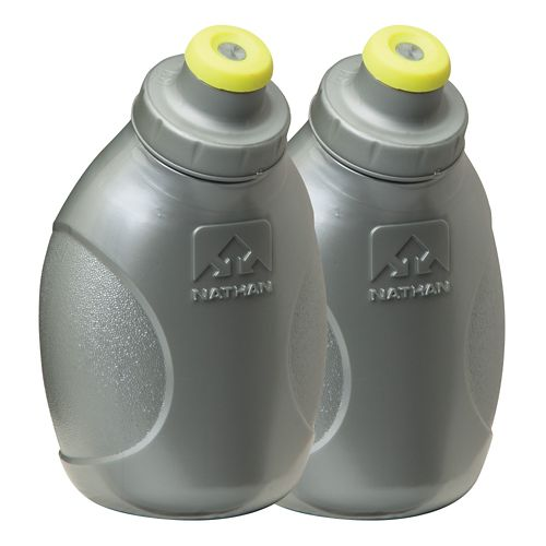 Nathan Push-Pull Flask 10 ounce 2 pack Hydration - Silver