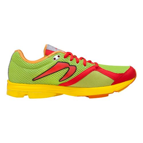 Mens Newton Running Distance Running Shoe - Lime/Red 10.5