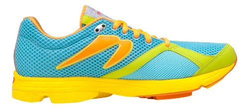 Womens Newton Running Distance Running Shoe - Blue/Lime 6