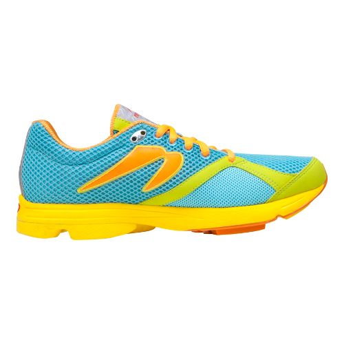 Womens Newton Running Distance Running Shoe - Blue/Lime 7.5