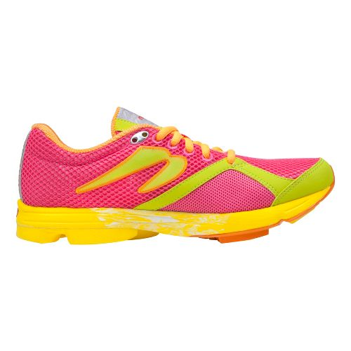 Womens Newton Running Distance U Running Shoe - Pink/Lime 11