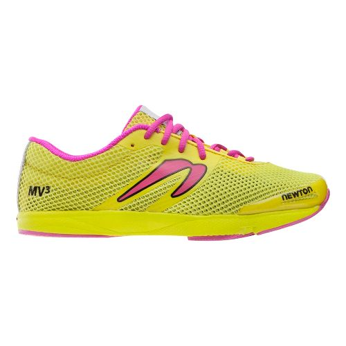 Womens Newton Running MV3 Running Shoe - Yellow/Pink 7.5