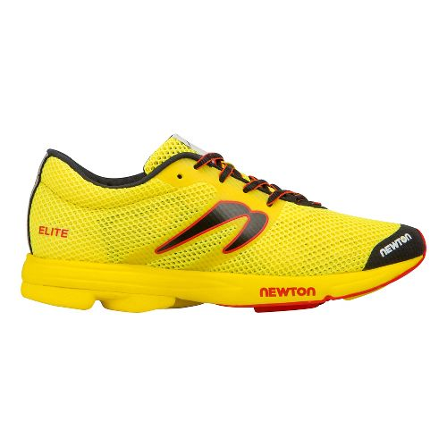 Mens Newton Running Distance Elite Racer Running Shoe - Yellow/Red 7.5