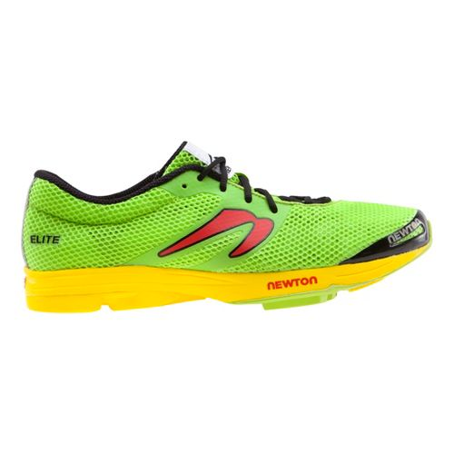 Mens Newton Running Elite Racer Running Shoe - Green/Yellow 10.5