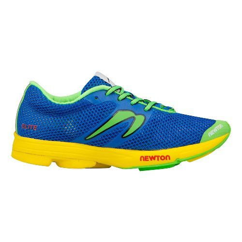 Womens Newton Running Distance Elite Racer Running Shoe - Blue/Green 7.5