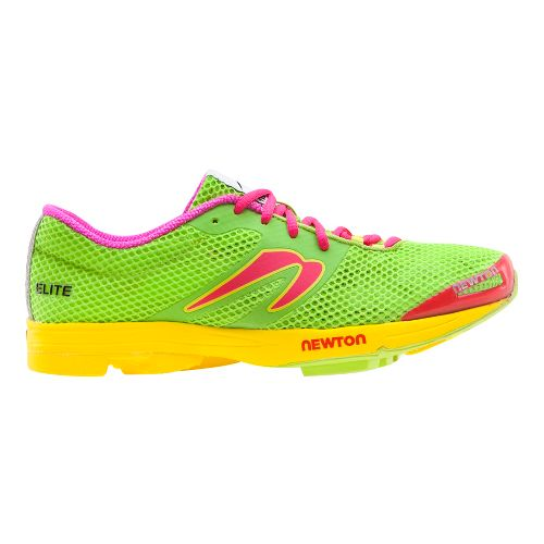 Womens Newton Running Elite Racer Running Shoe - Green/Yellow 8.5
