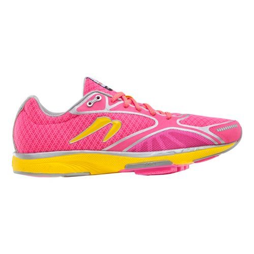 Womens Newton Running Gravity III Running Shoe - Pink/Yellow 7