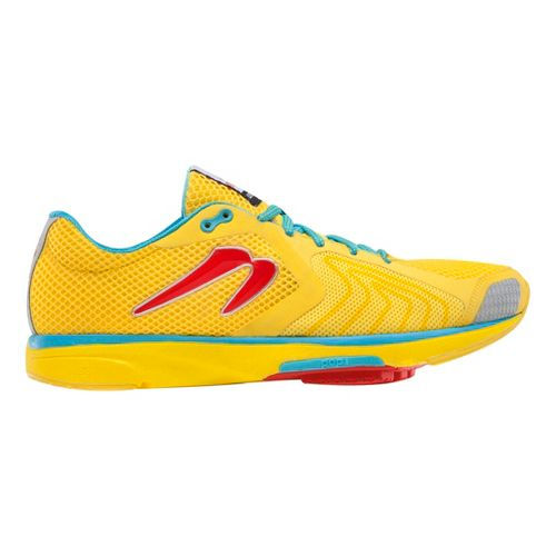 Womens Newton Running Distance III Running Shoe - Yellow/Red 9