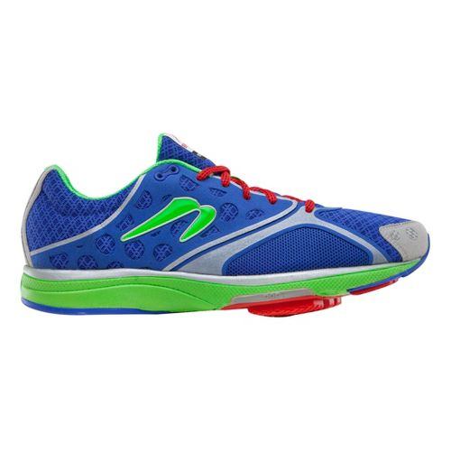 Mens Newton Running Motion III Running Shoe - Blue/Lime 11.5