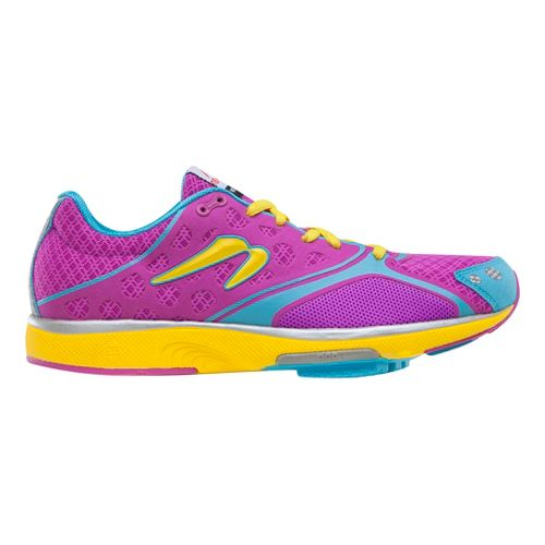 Womens Newton Running Motion III Running Shoe - Orchid/Yellow 7.5
