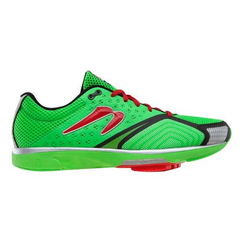 Mens Newton Running Distance S III Running Shoe - Lime/Red 11.5