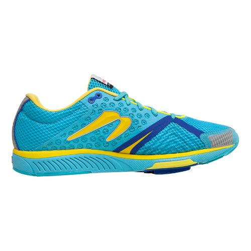 Womens Newton Running Distance S III Running Shoe - Aqua/Yellow 10