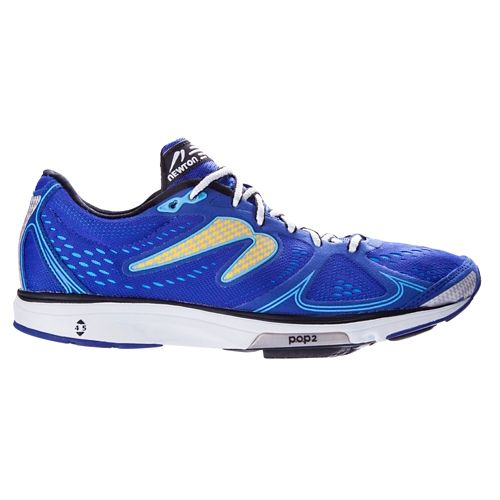 Mens Newton Running Fate Running Shoe - Blue/Yellow 12.5