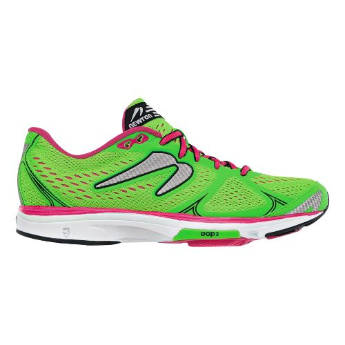 Womens Newton Running Fate Running Shoe - Green/Pink 7.5