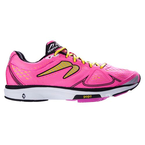 Womens Newton Running Fate Running Shoe - Pink/Yellow 7.5