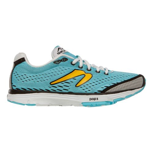 Womens Newton Running Aha Running Shoe - Sky Blue/Yellow 7.5