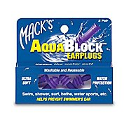 Macks Aquablock Swim Earplugs - 2 pair Swim Equipment