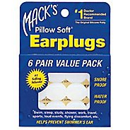 Macks Pillowsoft Swim Ear Plugs - 6 pair Swim Equipment