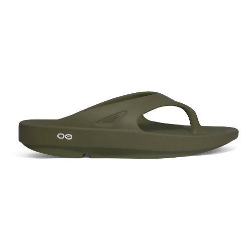OOFOS OOriginal Thong Sandals Shoe - Forest Green 13