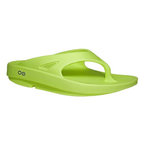 OOFOS OOriginal Thong Sandals Shoe - Citron 10