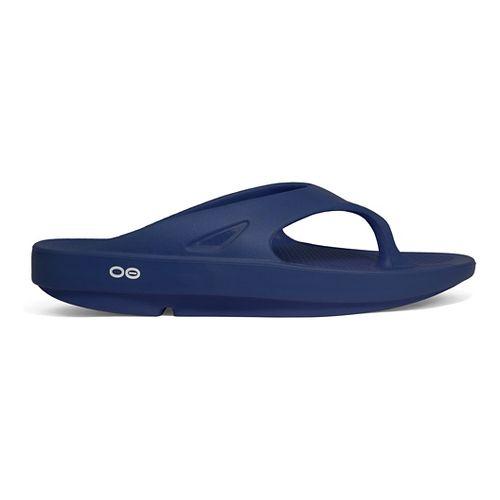 OOFOS OOriginal Thong Sandals Shoe - Navy 11