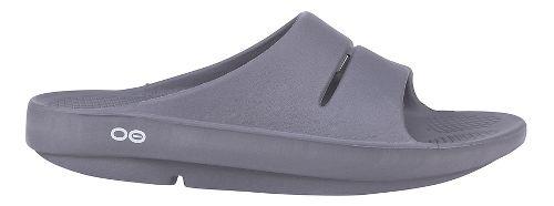 OOFOS Ooahh Slide Sandals Shoe - Slate 6