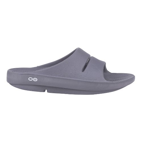 OOFOS Ooahh Slide Sandals Shoe - Slate 7