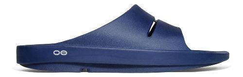 OOFOS Ooahh Slide Sandals Shoe - Navy 9