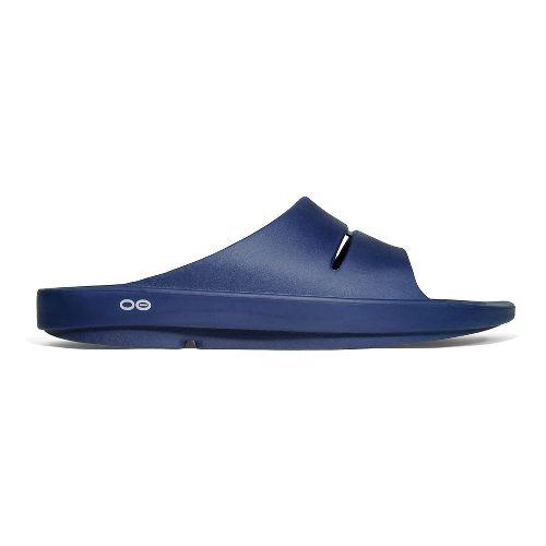 OOFOS Ooahh Slide Sandals Shoe - Navy 13