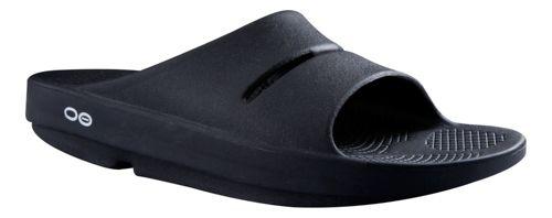 OOFOS Ooahh Slide Sandals Shoe - Black 9