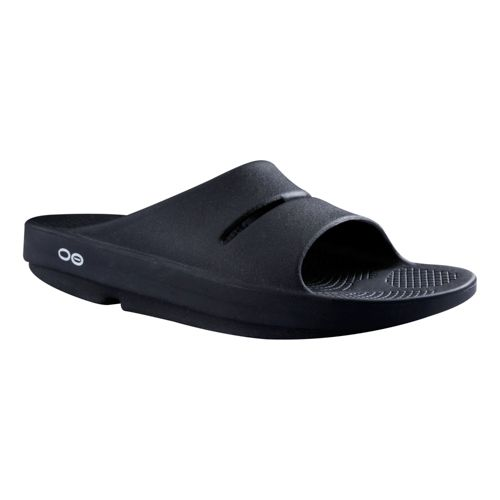 OOFOS Ooahh Slide Sandals Shoe - Black 10