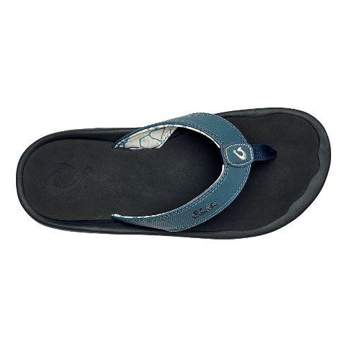 Mens OluKai Ohana Sandals Shoe - Stormy Blue/Black 13