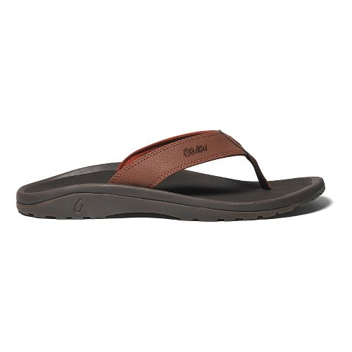 Mens OluKai Ohana Sandals Shoe - Brick/Dark Java 16