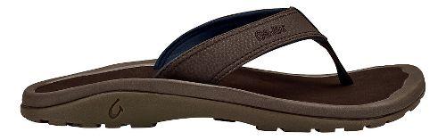 Mens OluKai Ohana Sandals Shoe - Dark Wood/Dark Wood 8