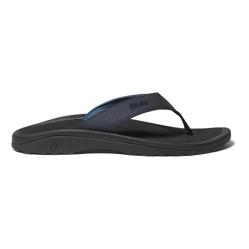 Mens OluKai Ohana Sandals Shoe - Charcoal/Charcoal 9
