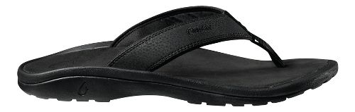 Mens OluKai Ohana Sandals Shoe - Black/Black 14