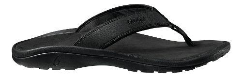Mens OluKai Ohana Sandals Shoe - Black/Black 15