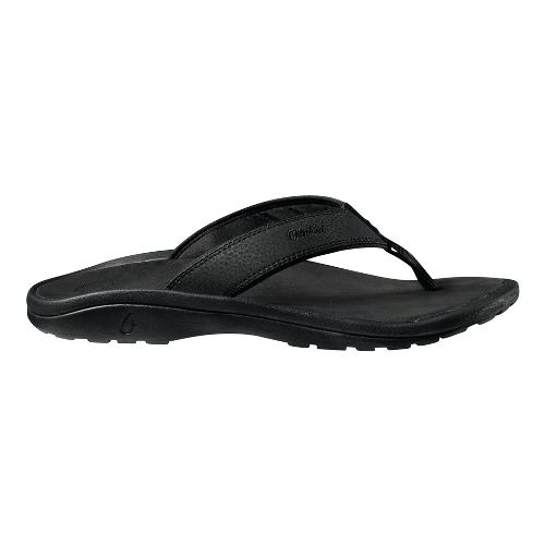 Mens OluKai Ohana Sandals Shoe - Black/Black 12