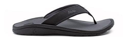 Mens OluKai Ohana Sandals Shoe - Black/Grey 7