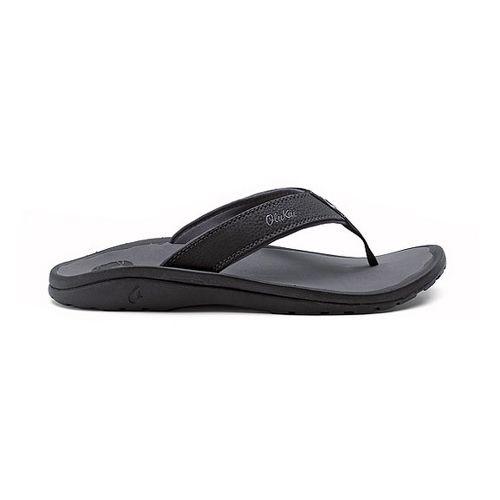 Mens OluKai Ohana Sandals Shoe - Black/Grey 13
